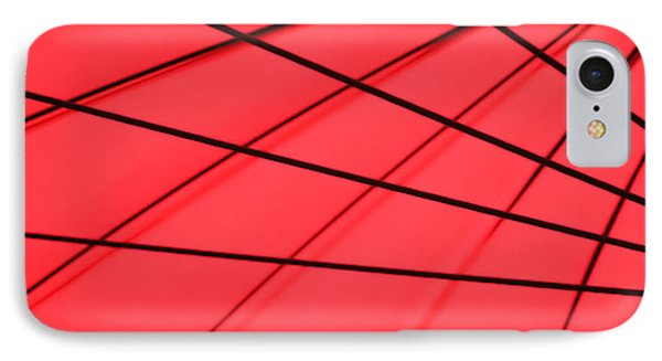 Red And Black Abstract IPhone Case by Tony Grider