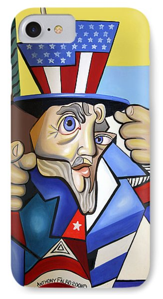 Uncle Sam 2001 Phone Case by Anthony Falbo