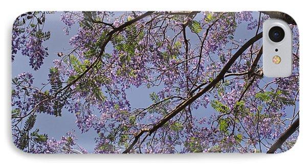 Under The Jacaranda Tree Phone Case by Rona Black