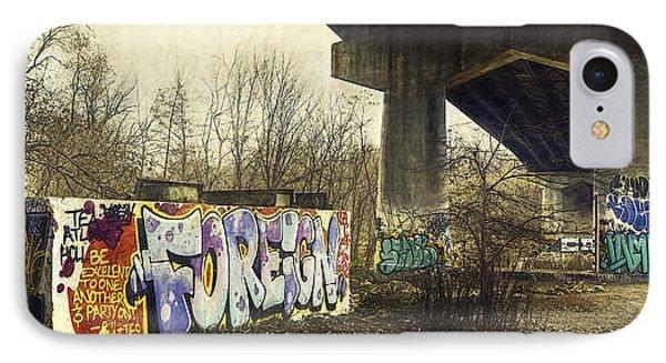 Under The Locust Street Bridge IPhone Case by Scott Norris