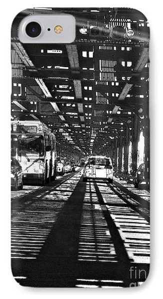 Under The One Train In The Bronx IPhone Case by Sarah Loft