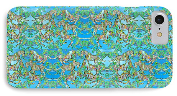 Under The Sea Horses IPhone Case by Betsy Knapp