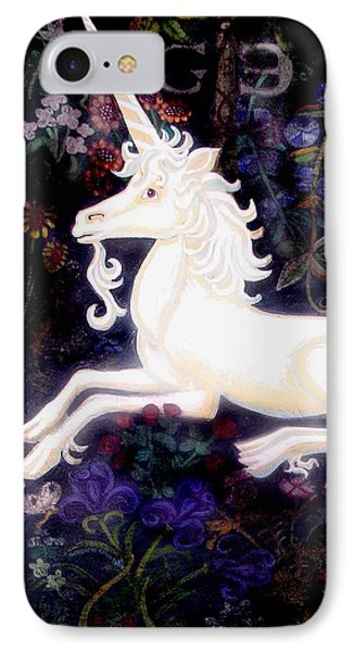 Unicorn Floral Phone Case by Genevieve Esson