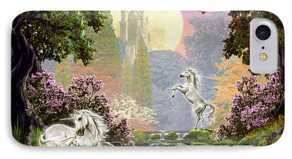 Unicorn New Born IPhone 7 Case by Garry Walton