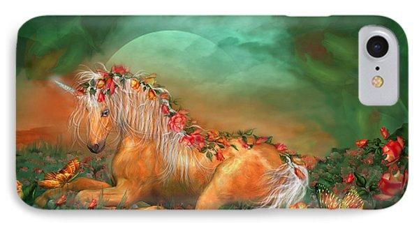 Unicorn Of The Roses IPhone 7 Case by Carol Cavalaris
