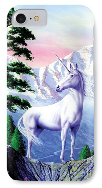 Unicorn The Land That Time Forgot IPhone Case by Garry Walton