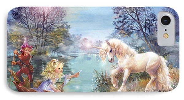 Unicorns Lake IPhone Case by Zorina Baldescu