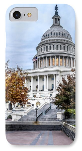 United States Capitol IPhone Case by Susan Candelario