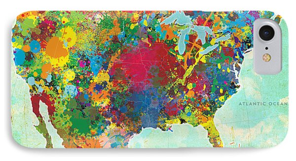 United States Map Phone Case by Gary Grayson