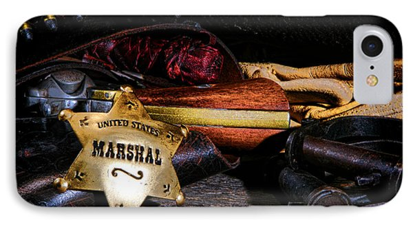 United States Marshall Shield  IPhone Case by Olivier Le Queinec