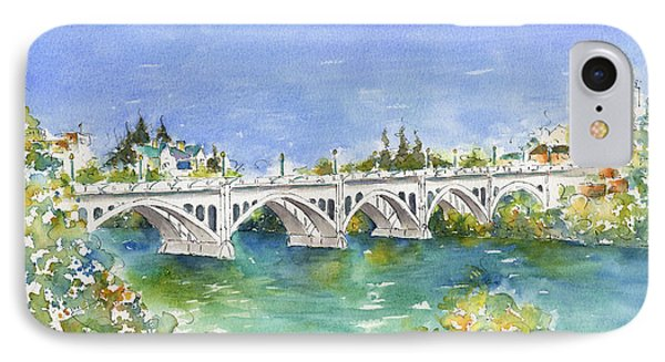 University Bridge IPhone Case by Pat Katz