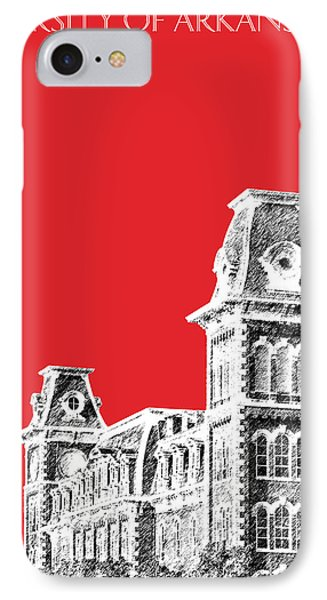 University Of Arkansas - Red IPhone 7 Case by DB Artist