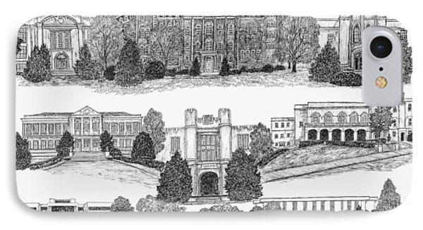 University Of Arkansas Fayetteville IPhone 7 Case by Liz  Bryant