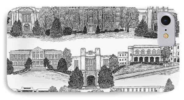 University Of Arkansas Fayetteville IPhone Case by Liz  Bryant