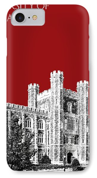 University Of Oklahoma - Dark Red IPhone 7 Case by DB Artist