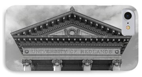 University Of Redlands Administration Building IPhone Case by University Icons