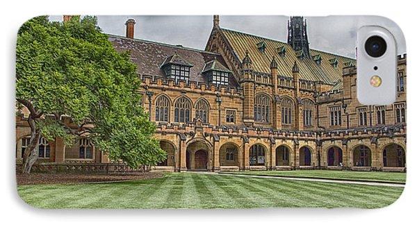 University Of Sydney Quadrangle  IPhone Case by Douglas Barnard