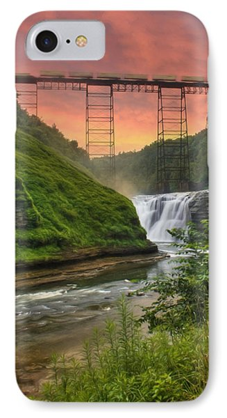 Upper Falls Of Letchworth IPhone Case by Lori Deiter