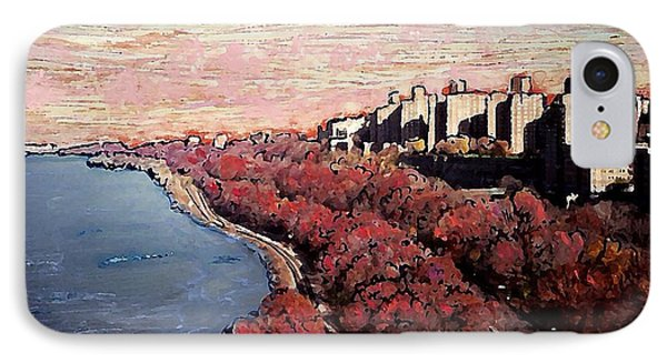Upper Manhattan Along The Hudson River Phone Case by Sarah Loft