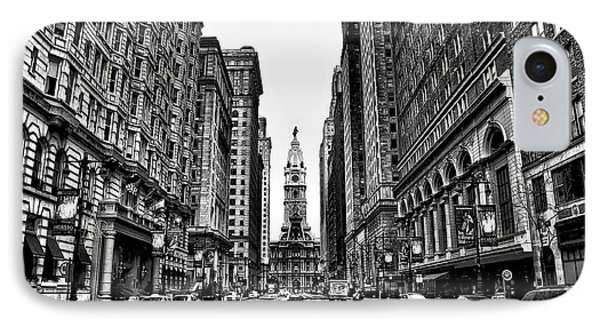 Urban Canyon - Philadelphia City Hall IPhone 7 Case by Bill Cannon