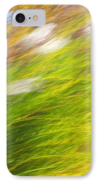 Urban Nature Fall Grass Abstract Phone Case by Christina Rollo