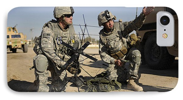 U.s. Army Soldiers Setting Phone Case by Stocktrek Images