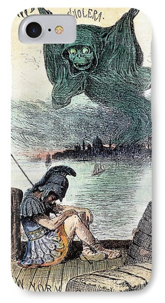 U.s. Cartoon: Cholera, 1883 IPhone Case by Granger