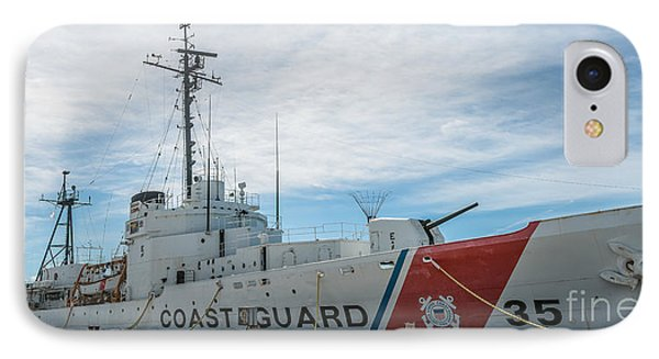 Us Coast Guard Cutter Ingham Whec-35 - Key West - Florida - Panoramic IPhone Case by Ian Monk