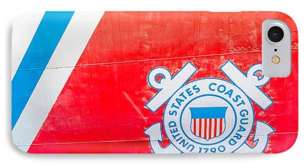 Us Coast Guard Emblem - Uscgc Ingham Whec-35 - Key West - Florida IPhone Case by Ian Monk