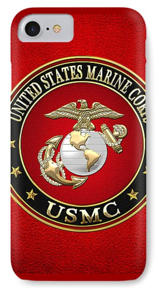 U. S. Marine Corps - U S M C Emblem Special Edition IPhone Case by Serge Averbukh