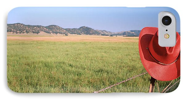 Usa, California, Red Cowboy Hat Hanging IPhone Case by Panoramic Images