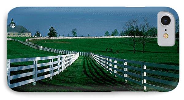 Usa, Kentucky, Lexington, Horse Farm IPhone Case by Panoramic Images