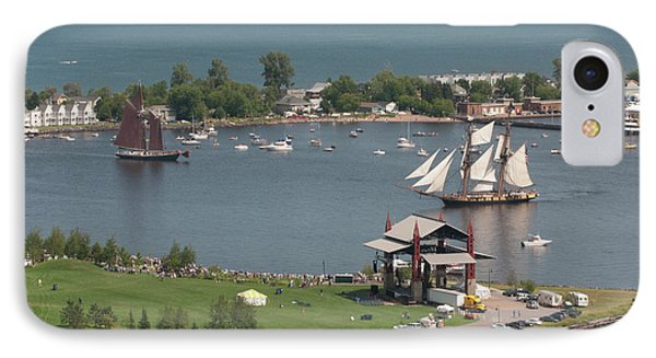 Usa, Minnesota, Duluth, Duluth Harbor IPhone Case by Peter Hawkins