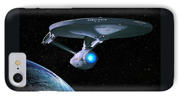 Uss Enterprise IPhone Case by Paul Tagliamonte