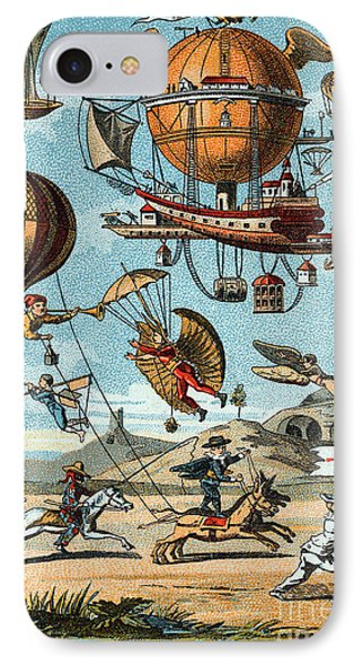 Utopian Flying Machines 19th Century Phone Case by Science Source