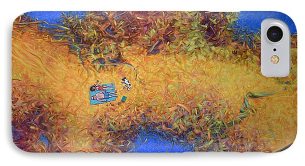 Vacationing On A Painting Phone Case by James W Johnson