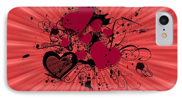 Valentine Day Illustration Phone Case by Darren Fisher