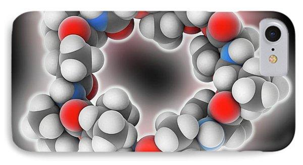 Valinomycin Drug Molecule IPhone Case by Laguna Design