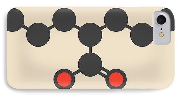 Valproic Acid Epilepsy Drug Molecule IPhone Case by Molekuul