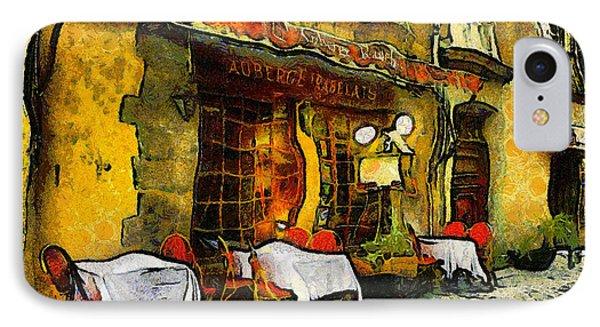 Van Gogh Style Restaurant IPhone Case by Georgiana Romanovna
