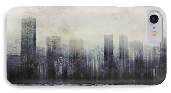 Vancouver Skyline Abstract 1 IPhone Case by Peter v Quenter