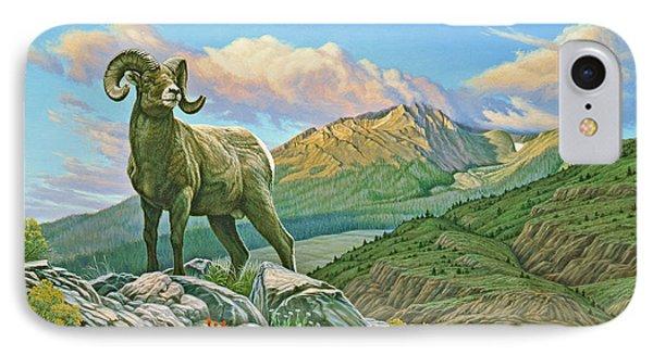 Vantage Point - Bighorn Phone Case by Paul Krapf