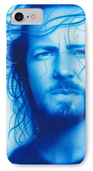 Eddie Vedder - ' Vedder ' IPhone Case by Christian Chapman Art