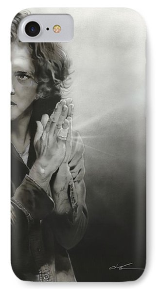 Eddie Vedder - ' Vedder Iv ' IPhone Case by Christian Chapman Art