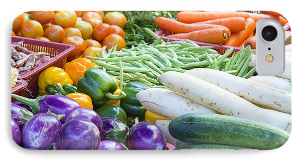 Vegetables Stand In Wet Market Phone Case by JPLDesigns