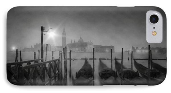 Venice Gondolas A Foggy Nightscape IPhone Case by Melanie Viola
