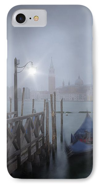 Venice Gondolas In The Mist IPhone Case by Melanie Viola