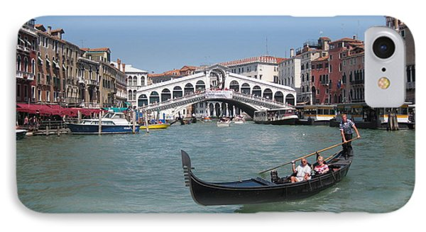 Venice Gondolier Phone Case by John Malone