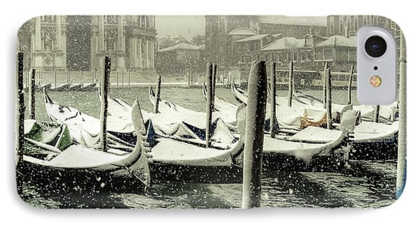 IPhone Case featuring the photograph Venice In White by Thierry Bouriat