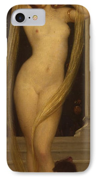 Venus And Cupid IPhone Case by Frederic Leighton